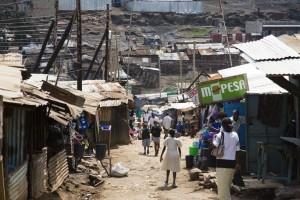 Slums in Nairobi, Mathare, een van de oudste sloppenwijken. Foto's Petterik Wiggers