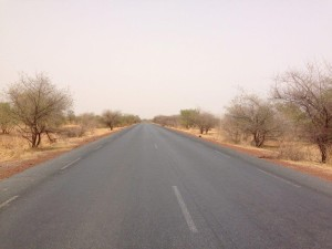 Road from Bamako to Kayes in West Mali