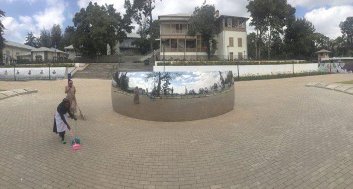 Unity park met het paleis van keizer Menelik II(Foto Petterik Wiggers)